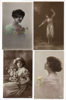 Fantaisie - 4 CPA -Portraits Fillettes   ( 86833) - Fantasie