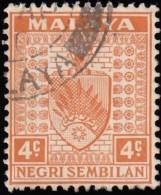 MALAYA Negri Sembilan - Scott #23 Arms / Used Stamp - Negri Sembilan
