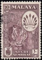 MALAYA Negri Sembilan - Scott #69a Coat Of Arms & Views Of Country / Used Stamp - Negri Sembilan