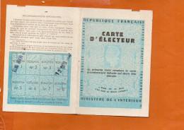 Carte D'électeur - Paris 7ème Arrondissement Vote De Mars 1977 Et Mars 1978 - Cartes