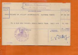 Carte D´électeur - Paris 7ème Arrondissement Vote De 1962 - Ecole Libre St Thomas D'Aquin, Rue De Grenelle - Cartes