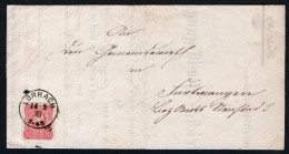 3154 - Alter Beleg Brief - Lörrach Nach Furtwangen 1876 - Trockensiegel - Wurttemberg