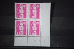 Marianne Du Bicentenaire Année 1991 N° 2624 Coins Datés 19. 3.91 Traits - 1990-1999