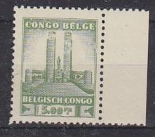 Belgisch Congo 1941 Monument Koning Albert I Te Leopoldstad 5 Fr  1w  (voor- En Achterzijde Beschadigd!)** Mnh (29269) - Belgisch-Kongo