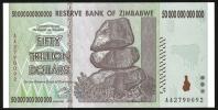 Zimbabwe 50 Trillion Dollars 2008 P 90 UNC  ( Zimbabue  ) - Zimbabwe