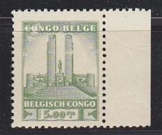 Belgisch Congo 1941 Monument Koning Albert I Te Leopoldstad 5 Fr  1w  (voor- En Achterzijde Beschadigd!)** Mnh (29270) - Belgisch-Kongo