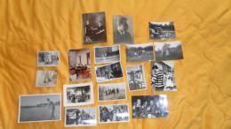 LOT DE 18 PHOTOS VARIEES PLUSIEURS EPOQUES. / LIEU ?. FETES .... - Non Classés