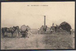 En BEAUCE,  Le Battage,  Gros Plan - France