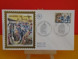 FDC- Journée Du Timbre, La Poste Aux Armées 1914/1918 - 92 Courbevoie - 27.3.1971 - 1er Jour,coté 2,50 € - - 1970-1979