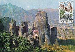 D22888 CARTE MAXIMUM CARD 1981 GREECE - METEORA THE ROCKS CP ORIGINAL - Architecture