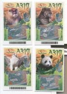 UKRAINE 4 Tickets INSTANT LOTTERY ASIA 50x75mm - Lotterielose