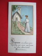 """IMAGE PIEUSE - COMMUNION - """" SEIGNEUR EN CE BEAU JOUR REPANDEZ SUR CEUX QUE..."""" COLLAGE """" - Magnificat - - Devotion Images"""