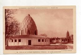 Exposition Coloniale Internationale Paris 1931 Pavillon De L'Afrique Equatoriale Française En Cours D'execution - Tentoonstellingen