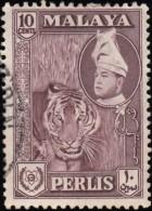 MALAYA Perlis - Scott #34 Raja Syed Putra / Used Stamp - Perlis
