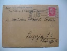 Lettre Perforé,  Perfin,  Lochung,  Lettre Cover Brief       C S&S   Carl  Schleicher & Schull - Germania