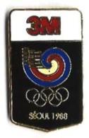 JO AUTRES - SEOUL 1988 - JA3 - SPONSOR 3M - Verso : SM - Jeux Olympiques