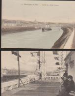"""Lot 2 CPA:Boulogne:L'Estacade/Sortie Du """"Mabel Grace"""" - Boulogne Sur Mer"""