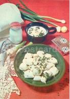Dumplings - Sour Cream - Butter - Onoin - Garlic - Cooking Recepies - 1983 - Estonia USSR - Unused - Recipes (cooking)