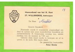 Mannenbond Van Het H. Hart St-Willoibrords, Antwerpen - Tickets D'entrée