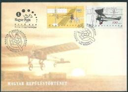 3830 Hungary FDC Transport Flight Aircraft Aviation - Airplanes