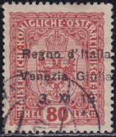 VENEZIA GIULIA 1918 / 80h Usato Prezzo Catalogo Euro 25 - 7. Trieste