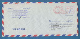 "207474 / Letter 1989 - 85.00 R. -  Meter Stamp Tehran , "" CENTRAL INSURANCE OF IRAN "" - SOFIA  , Iran - Iran"