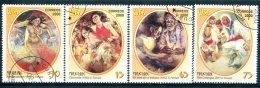 """CUBA : Y&T N° 3848-3851  """" Folklore """" - Carnaval"""