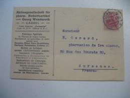 Lettre Perforé,  Perfin,  Lochung,  Lettre Cover Brief      GW  Georg Wenderoth - Oblitérés