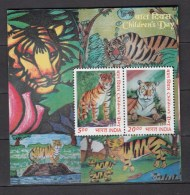 India 2011,2V In Block,tigers,tijgers,tiger,tigres,tigri,MNH/Postfris(L2321) - Game