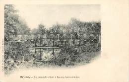 """/ CPA FRANCE 91 """"Brunoy, La Passerelle Allant à Boussy Saint Antoine"""" - Brunoy"""