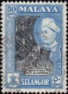 MALAYA Selangor - Scott #109a Sultan Hisamuddin Alam Shah 'Perf.: 12½' / Used Stamp - Selangor