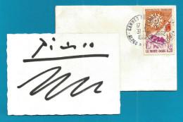 (A160) Signature / Dédicace / Autographe Original De PICASSO + Enveloppe Datée - Autógrafos