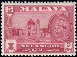 MALAYA Selangor - Scott #117 Sultan Hissamuddin Alam Shah / Mint NH Stamp - Selangor