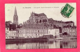 89 YONNE AUXERRE, Les Quais St-Germain Et L'Hôpital, 1907,  (Ch. Monneret) - Auxerre