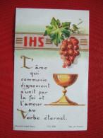 IMAGE PIEUSE - BOUASSE LEBEL - L' AME QUI COMMUNIE DIGNEMENTS'UNIT PAR LA FOI ET L' AMOUR AU VERBE ETERNEL. - Devotion Images