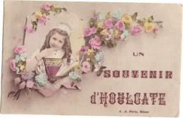 UN SOUVENIR D'HOULGATE / CPA FANTAISIE - FILLETTE - Houlgate