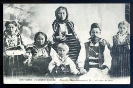 Cpa De Serbie -- Souvenir D' Orient 1914-18 Famille Macédonienne à X.. Un Jour De Fête   LIOB56 - Serbie