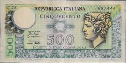 ITALIE - 1 BILLET De 500 Lires - E.D.M. 2-4-1979 - TBE - - [ 2] 1946-… : République