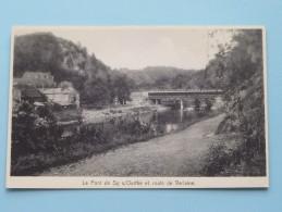 Le Pont De SY S/Ourthe Et Route De Verlaine ( Café SEPUL ) Anno 1966 ( Zie Foto Details ) !! - Verlaine