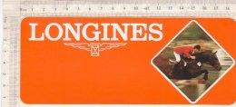 B1622 - ADESIVO STICKER - LONGINES - CORSE CAVALLI - IPPICA - Altri