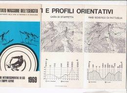 B1636 - Brochure STATO MAGGIORE ESERCITO - GARE INTERNAZ. DI SCI PER TRUPPE ALPINE 1969 - BRIGATA ALPINA OROBICA MERANO - Sport Invernali