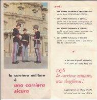 B1638 - Brochure PROPAGANDA CARRIERA MILITARE Anni '60/CARABINIERI - Altri