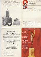 B1639 - Brochure PUBBLICITA' SAPONIFICIO CERERIA COLENGHI - TORINO Anni '70/CANDELE/SAPONI - Pubblicitari