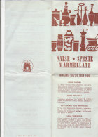 B1640 - Brochure MOTTA - RICETTE SALSE-SPEZIE-MARMELLATE - RICETTE CUCINA - Pubblicitari
