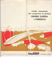 B1641 - Brochure CAUDANO - RICETTE PIEMONTESI RISTORANTE GRAN GIARDINO - TORINO - BAGNA CAODA E FONDUTA - CUCINA - Altre Collezioni