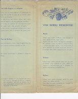 B1643 - Brochure VINI NOBILI PIEMONTESI - FRANCESI - WINE - Vino