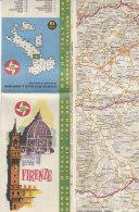 B1645 - MAP - CARTINA FIRENZE - CARTA STRADALE BP Ed. IGDA 1962 - Carte Topografiche