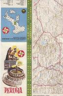 B1647 - MAP - CARTINA PERUGIA - CARTA STRADALE BP Ed. IGDA 1962 - Carte Topografiche