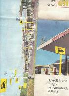 B1648 - MAP - CARTINA PUBBLICITA' BENZINA AGIP SUPERCORTEMAGGIORE - STAZIONI SERVIZIO AUTOGRILL ALEMAGNA AUTOSTRADE - Mappe