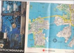 B1651 - MAP - CARTINA FINLANDIA - HELSINKI - MAGAZZINI STOCKMANN Ed.1979 - Carte Topografiche